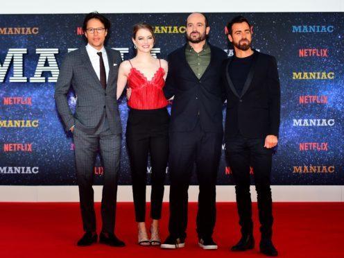 Stars of Netflix series Maniac appear at the world premiere in London (Victoria Jones/PA)