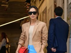 Victoria Beckham departs after her London Fashion Week SS19 show in Dover Street, London (Ian West/PA)