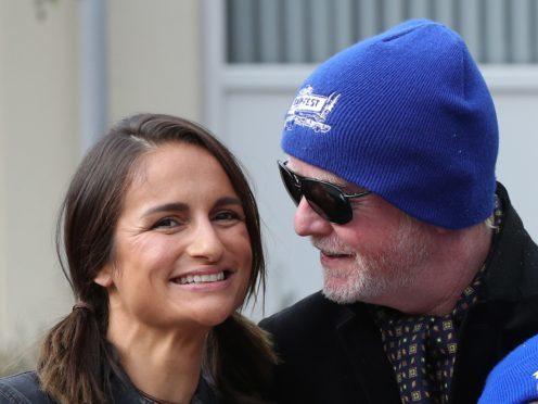 Chris Evans and his wife, Natasha (Jonathan Brady/PA)