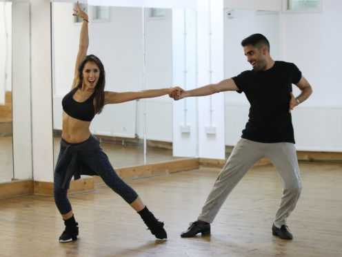 Embargoed to 0001 Friday September 21 Strictly Come Dancing contestant Dr Ranj Singh and his professional dance partner Janette Manrara during rehearsals at a dance studio in London.