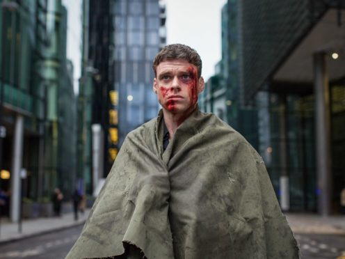 Richard Madden as David Budd, covered in blood in the finale of BBC One drama Bodyguard (Sophie Mutevelian/World Producti)