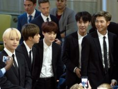 K-pop superstars BTS made an historic speech to the United Nations on Monday (Craig Ruttle/AP)