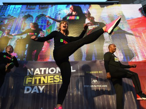 Dame Darcey Bussell leads a mass workout for National Fitness Day (Kirsty O'Connor/PA)