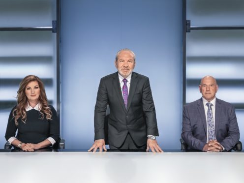 Lord Sugar, Baroness Karren Brady and Claude Littner (BBC)