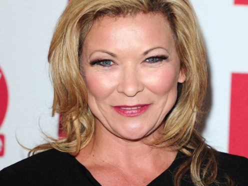 Claire King said it had been been 'great fun keeping it under wraps' (PA)