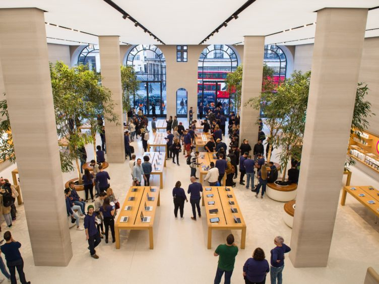 Apple staff praising an 'enjoyable' work culture, good rates of pay and free or discounted goods (PA)