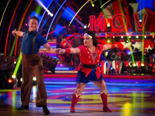 Susan Calman wowed as Wonder Woman in last year's Strictly Come Dancing (Guy Levy/BBC/PA)