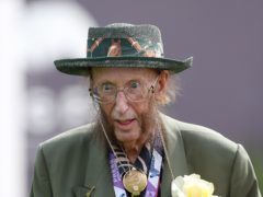 John McCririck during ladies day of the 2018 Investec Derby Festival at Epsom Downs Racecourse, Epsom. PRESS ASSOCIATION Photo. Picture date: Friday June 1, 2018. See PA story RACING Epsom. Photo credit should read: David Davies/PA Wire. RESTRICTIONS: Editorial use only � any intended commercial use is subject to prior Epsom Downs Racecourse approval. No Private Sales.
