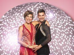Kate Silverton with dance partner Aijaz Skorjanec (Ray Burmiston/BBC)
