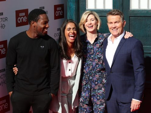 Tosin Cole, Mandip Gill, Jodie Whittaker and Bradley Walsh attending the Doctor Who premiere in Sheffield (Danny Lawson/PA)