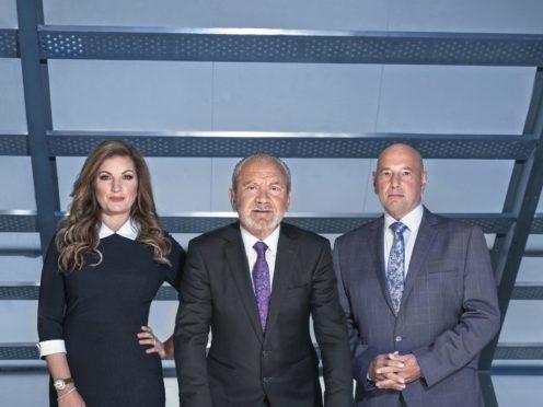 Karren Brady, Lord Sugar and Claude Littner in The Apprentice (BBC)