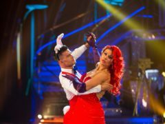 Kate Silverton and her dance partner Aijaz Skorjanec (Guy Levy/BBC)