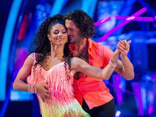 Vick Hope and her dance partner Graziano Di Prima (Guy Levy/BBC)