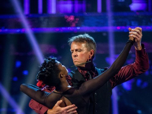 Graeme Swann is partnered with professional dancer Oti Mabuse on Strictly (BBC/PA)