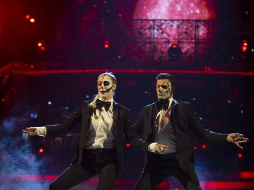 Faye Tozer and Giovanni Pernice in the Halloween special (Guy Levy/BBC)