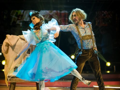 Seann Walsh and Katya Jones have been surrounded by controversy. (Guy Levy/BBC)