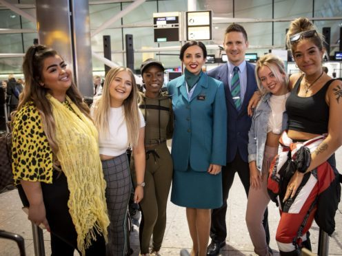 Aer Lingus has appeared on prime-time TV talent show The X Factor (Tom Dymond/Handout/PA)