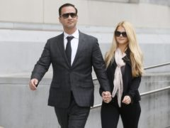 Michael 'The Situation' Sorrentino leaves federal court with his fiancee Lauren Pesce (Aristide Economopoulos/NJ Advance Media via AP, File)
