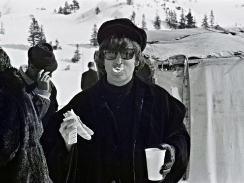 John Lennon on the set of Help! in Obertauern, Austria, in March 1965 (Bernd Kappelmeyer/PA)