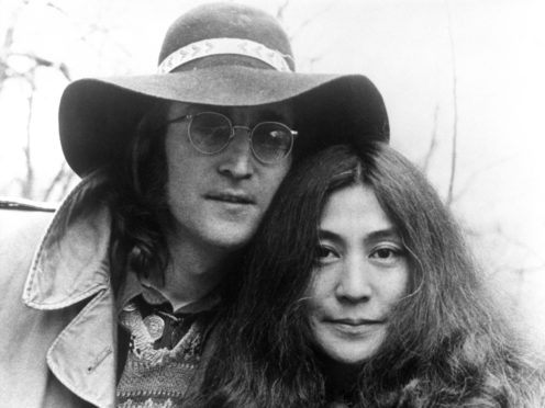 John Lennon and Yoko Ono pictured in 1973 (PA)