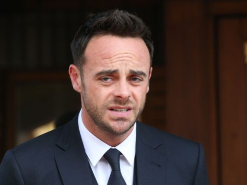 Ant McPartlin was told off by the judge in the High Court