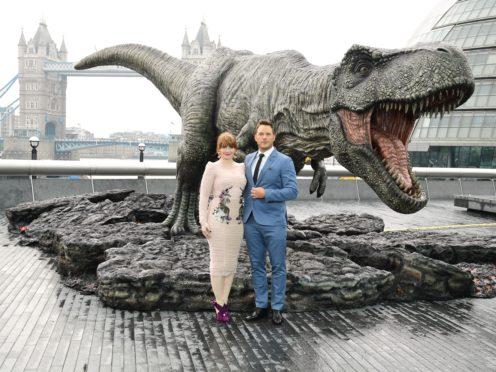 Bryce Dallas Howard and Chris Pratt star in Jurassic World: Fallen Kingdom (Ian West/PA)