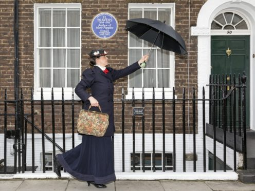 PL Travers blue plaque at her former home in Chelsea, London (English Heritage)