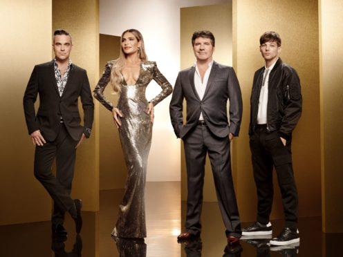 X Factor judges Robbie Williams, Ayda Field, Simon Cowell and Louis Tomlinson (Ray Burmiston/Thames/Syco/ITV)