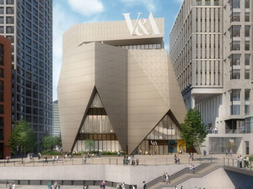 An image of plans for the V&A's new museum at Stratford Waterfront (ODonnell And Tuomey/Ninety90, 201)