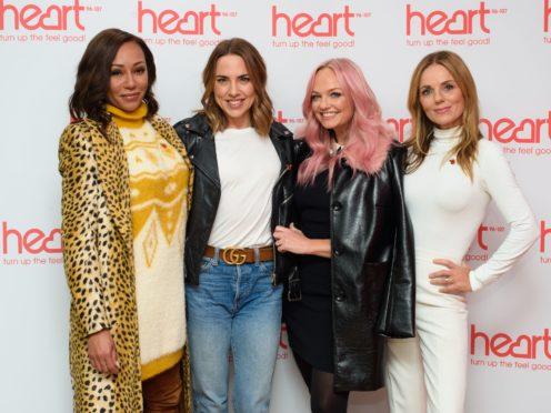 Spice Girls (left to right) Melanie Brown, Melanie Chisholm, Emma Bunton and Geri Horner (Matt Crossick/PA)