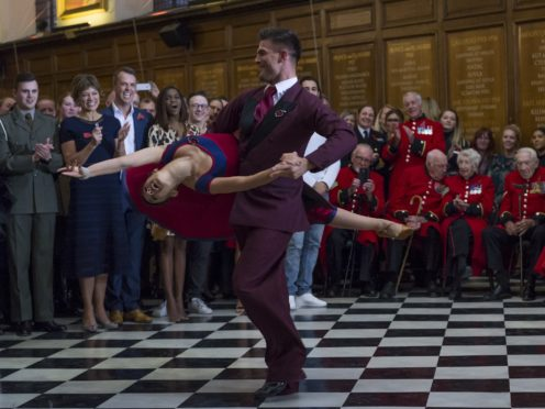 Strictly stars dance for the Chelsea Pensioners for Remembrance Day (Crown copyright 2018/PA)