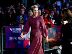 Frances McDormand attending the premiere of Three Billboards Outside Ebbing, Missouri at the closing gala of the BFI London Film Festival, at the Odeon Leicester Square, London (PA)