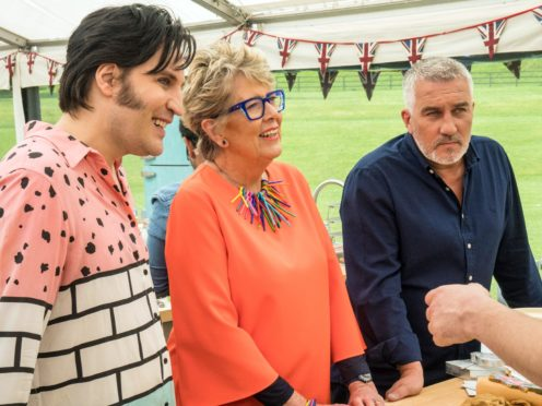 Noel Fielding, Prue Leith and Paul Hollywood (Mark Bourdillon/Love Productions)