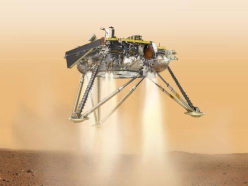 Artist impression of Nasa's InSight lander which landed on Mars (NASA/JPL-Caltech)