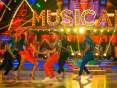 The judges joined the celebrities and professionals for a Mamma Mia-themed opening dance (BBA/PA)