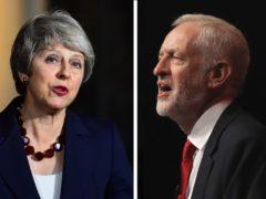 Theresa May and Jeremy Corbyn (PA)