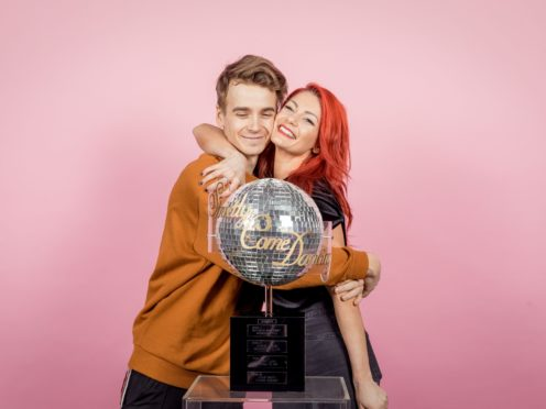 Dianne Buswell shared a loving tribute to her 'special somebody' Joe Sugg (Guy Levy/pA)