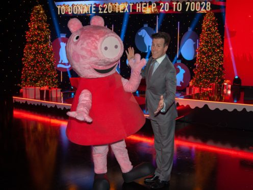 Strictly Come Dancing's Anton Du Beke performed with Peppa Pig during charity telethon Help the Animals at Christmas (Channel 5/PA)