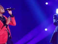 Dalton sang with James Arthur during the tense finale (Thames/Syco/REX/Shutterstock)