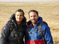Bear Grylls and Gareth Southgate on their trek (Betty/ITV)
