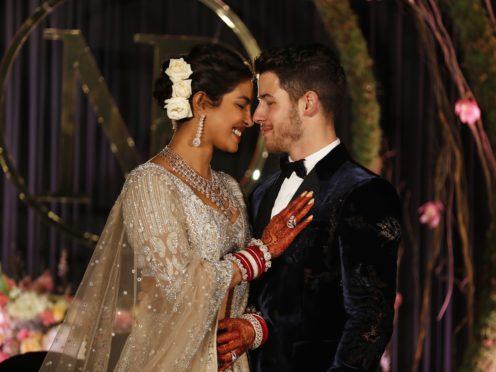 Priyanka Chopra and Nick Jonas (Altaf Qadri/AP)