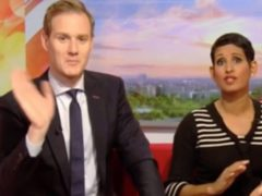A screen grab of Dan Walker and Naga Munchetty on air (BBC).