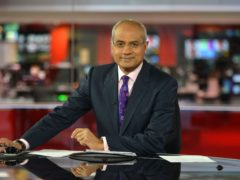 George Alagiah returns to presenting duties after a year off due to illness. (Jeff Overs/BBC)