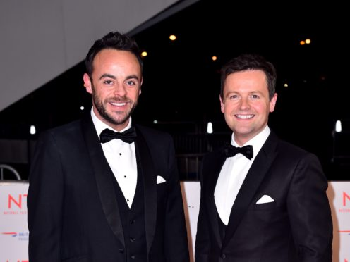 Ant & Dec's Saturday Night Takeaway is in the running for the Bruce Forsyth Entertainment Award (Matt Crossick/PA)
