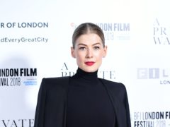 Rosamund Pike plays Marie Colvin (Ian West/PA)