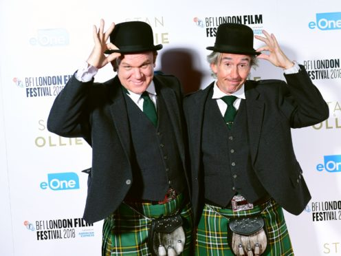 John C Reilly and Steve Coogan star in Stan And Ollie (Ian West/PA)