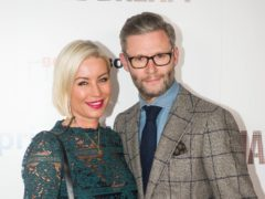 Denise Van Outen with Eddie Boxshall (Peter Summers/PA)