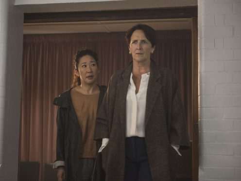 Eve (left), played by Sandra Oh, and Carolyn Martens, played by Fiona Shaw, in season two of Killing Eve (Parisa Taghizadeh/BBC America/PA)