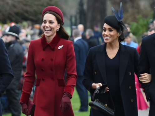 The Duchess of Cambridge and the Duchess of Sussex (Joe Giddens/PA)