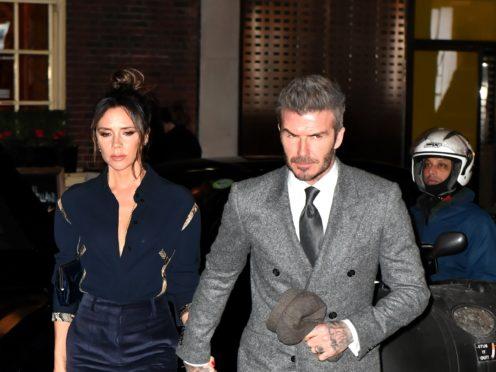 David and Victoria Beckham (Dominic Lipinski/PA)
